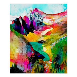 Mountain Range - Art On Canvas Print