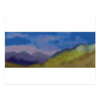 Mountain Range Art Postcard
