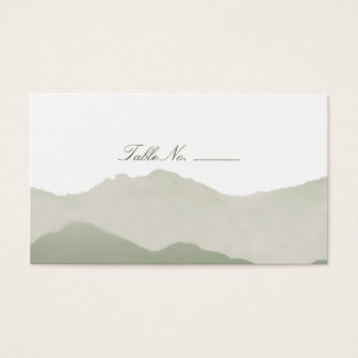 Mountain Range Guest Table Escort Cards