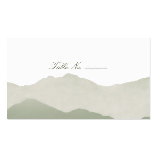Mountain Range Guest Table Escort Cards Business Card