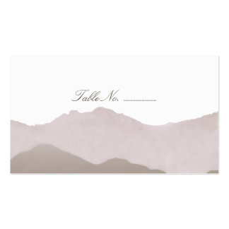 Mountain Range Guest Table Escort Cards Pack Of Standard Business Cards