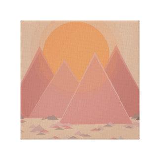 Mountain range in rocky landscape in searing heat canvas print
