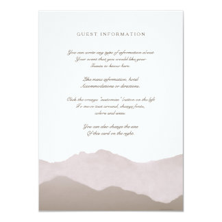 "Mountain Range Insert Card 4.5"" X 6.25"" Invitation Card"