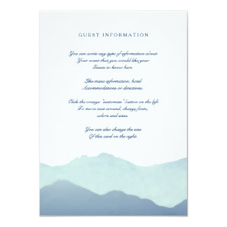 "Mountain Range Insert Card 4.5"" X 6.25"" Invitation Card"
