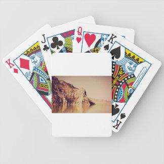 Mountain Range Near Water Nostalgic Postcard Image Bicycle Playing Cards