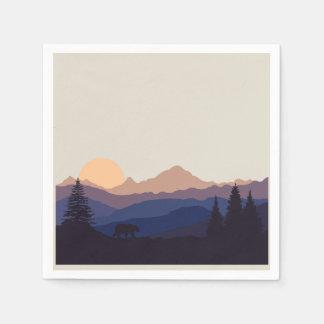 Mountain Range Paper Napkin