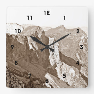 Mountain Range Wall Clock