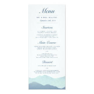 Mountain Range Wedding Dinner Menu Personalized Invitations