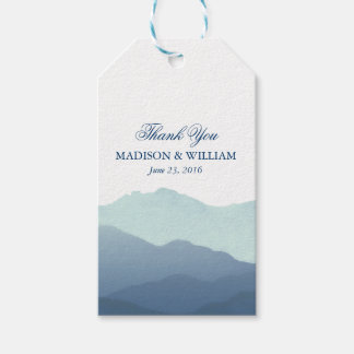 Mountain Range Wedding Gift Tags