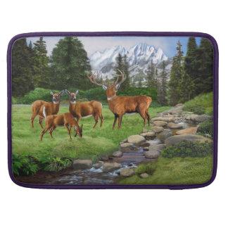 Mountain Red Deer Safari Sleeve For MacBooks