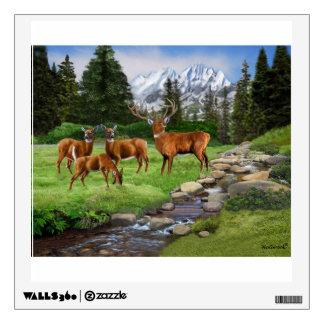 Mountain Red Deer Safari Wall Decal