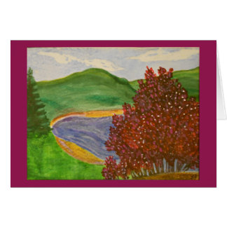 Mountain Redbud Watercolor Card