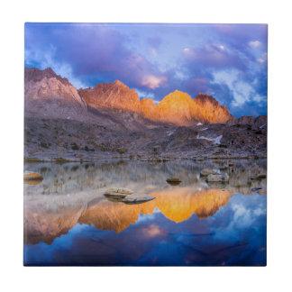 Mountain reflection, California Ceramic Tile