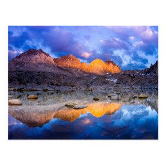 Mountain reflection, California Postcard