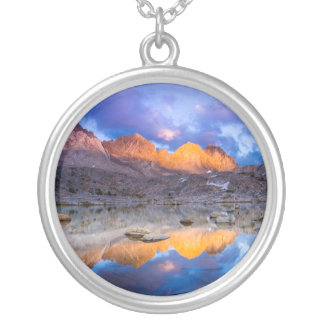 Mountain reflection, California Silver Plated Necklace