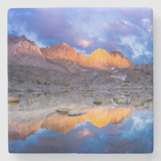 Mountain reflection, California Stone Coaster