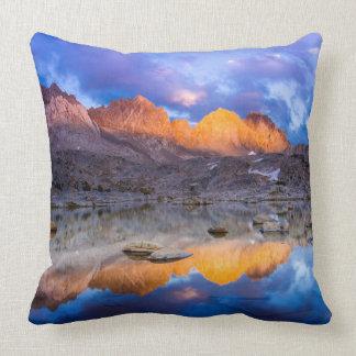 Mountain reflection, California Throw Pillow