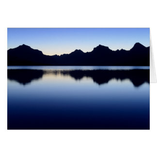 Mountain Reflections at Lake McDonald Card