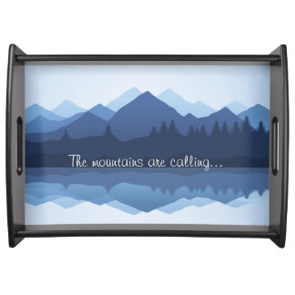 Mountain Reflections Design Serving Tray