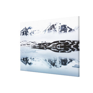 Mountain reflections, Norway Canvas Print