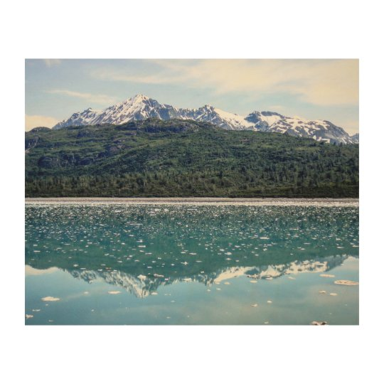 Mountain Reflections Wood Print