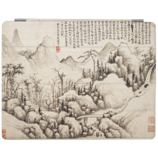 """Mountain Retreat"" Chinese vintage art print iPad Cover"