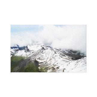 Mountain ridge in the Swiss alps Canvas Print