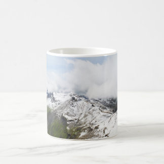 Mountain ridge in the Swiss alps Coffee Mug