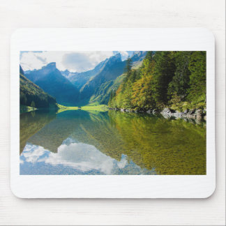 Mountain river green landscape mouse pad