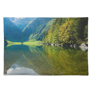 Mountain river green landscape placemat