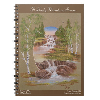 Mountain River Landscape Painting Notebook