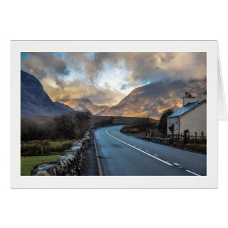 Mountain Road in Wales. Card