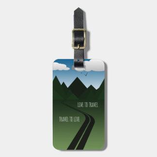 Mountain Road Luggage Tag