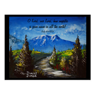 Mountain Road Scripture Postcard