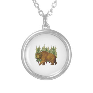 MOUNTAIN ROAM SILVER PLATED NECKLACE