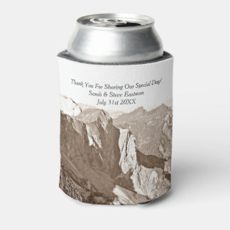 Mountain Rock Climbing Wedding Favor Can Cooler