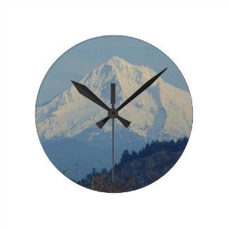Mountain Round Clock
