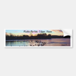 Mountain Run Lake Bumper Sticker