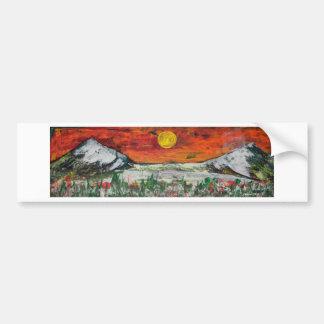 mountain scene bumper sticker