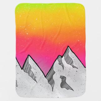 Mountain Scene Landscape Baby Blanket
