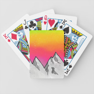 Mountain Scene Landscape Bicycle Playing Cards