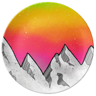 Mountain Scene Landscape Plate