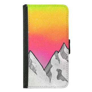 Mountain Scene Landscape Samsung Galaxy S5 Wallet Case