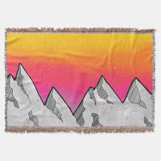 Mountain Scene Landscape Throw Blanket