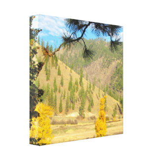 Mountain Scene Wrapped Canvas
