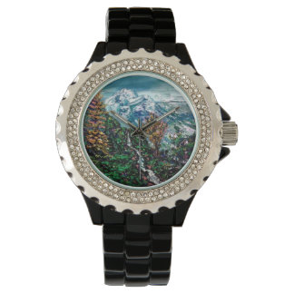 Mountain scene wristwatches