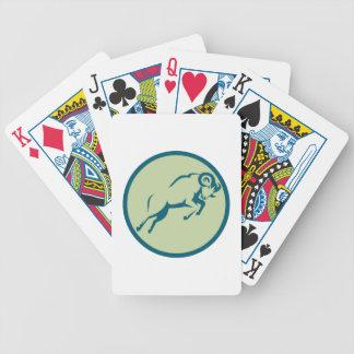 Mountain Sheep Jumping Circle Icon Bicycle Playing Cards