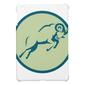 Mountain Sheep Jumping Circle Icon iPad Mini Case