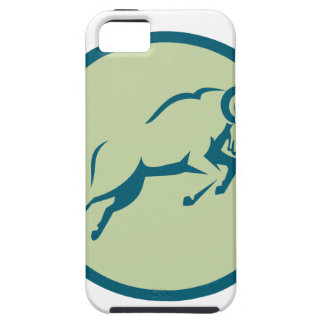 Mountain Sheep Jumping Circle Icon iPhone 5 Covers