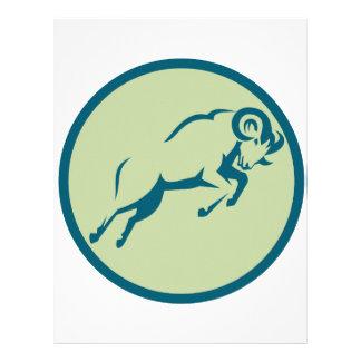 Mountain Sheep Jumping Circle Icon Letterhead